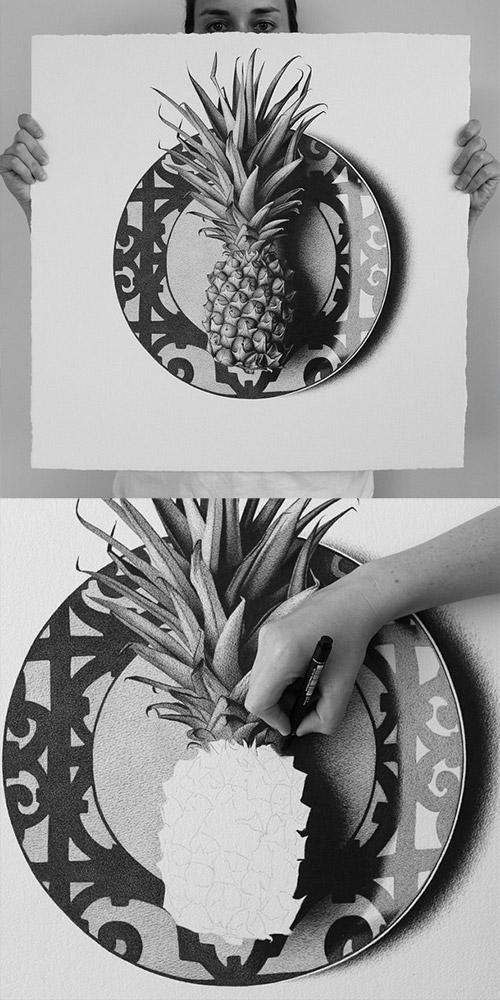 pineapple Hendry drawings