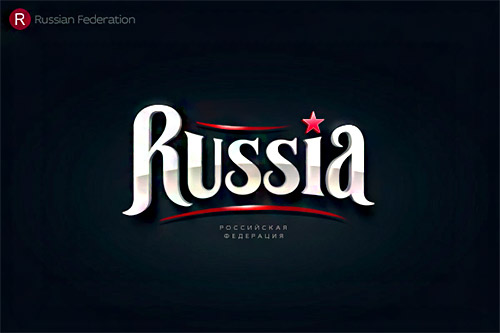 Russia logo typography