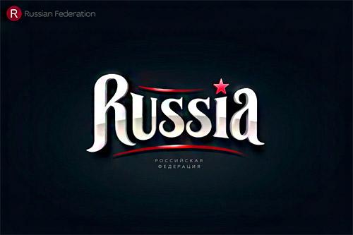 Russia logo typography