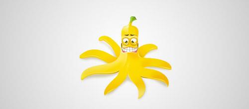 banana funny logo