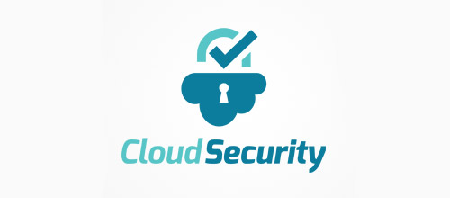 cloud security padlock logo