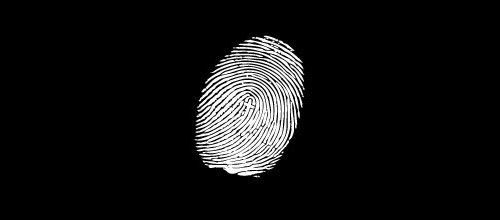 cross fingerprint logo