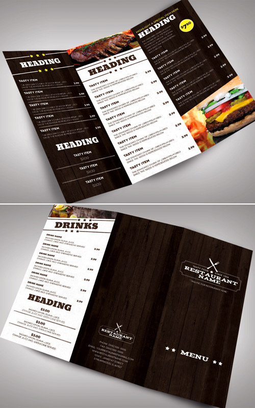 30 inspired restaurant menu brochure designs you must see naldz