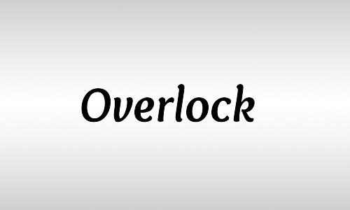 overlock free italic fonts