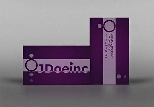 sample violet business card