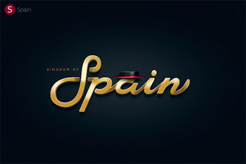spain logotype typography