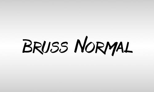 bruss italic font