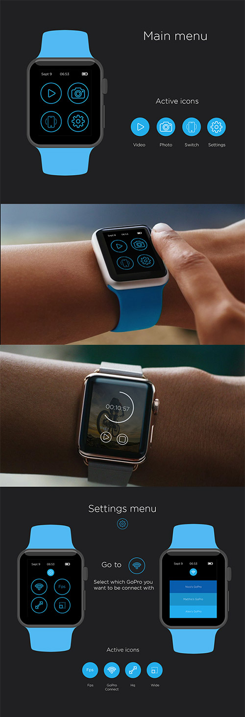 gopro iwatch app