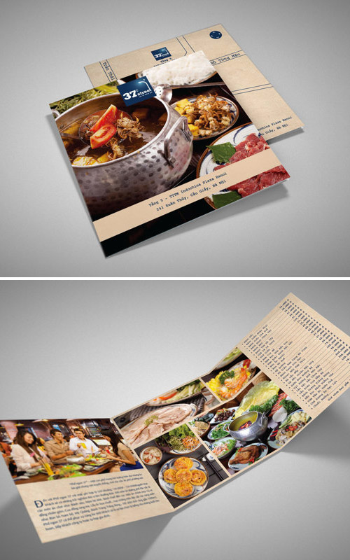 menu restaurant brochure