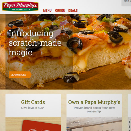 murphy website pizza