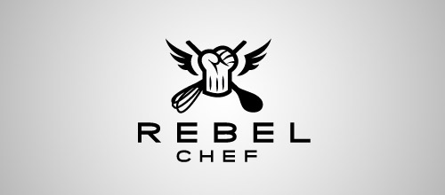 rebel chef hat logo