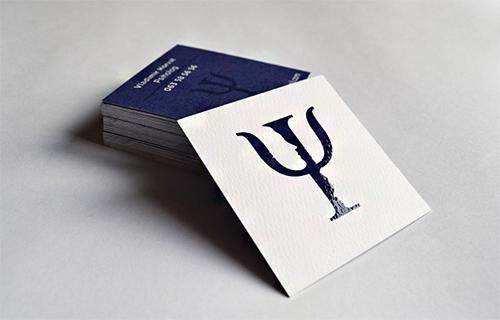 violet business cards