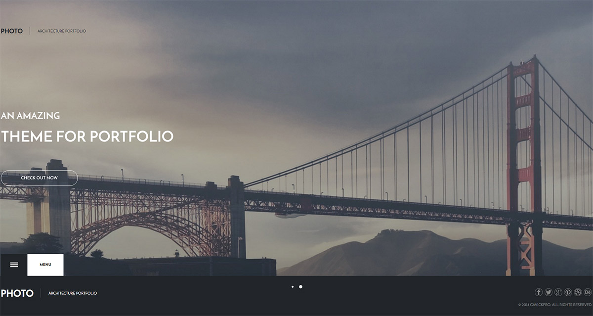 architecture template website