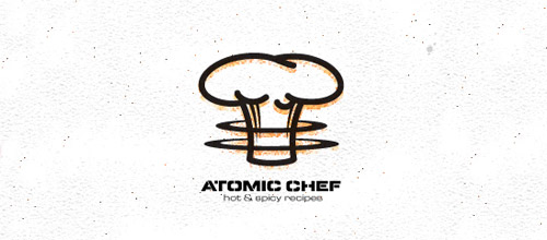 atomic chef hat logo
