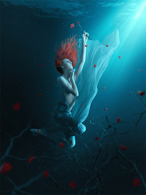 fantasy underwater scene photoshop