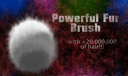fluffy fur brushes