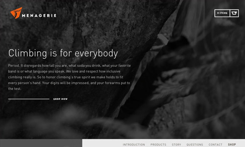 menagerie web design