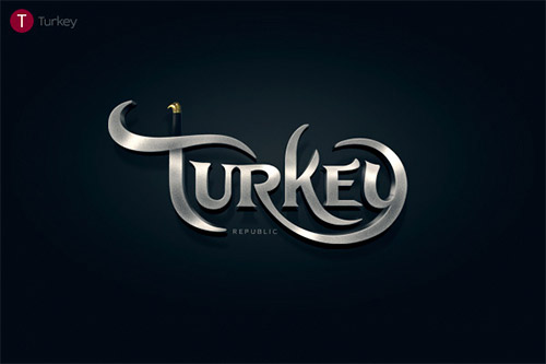turkey typography logo