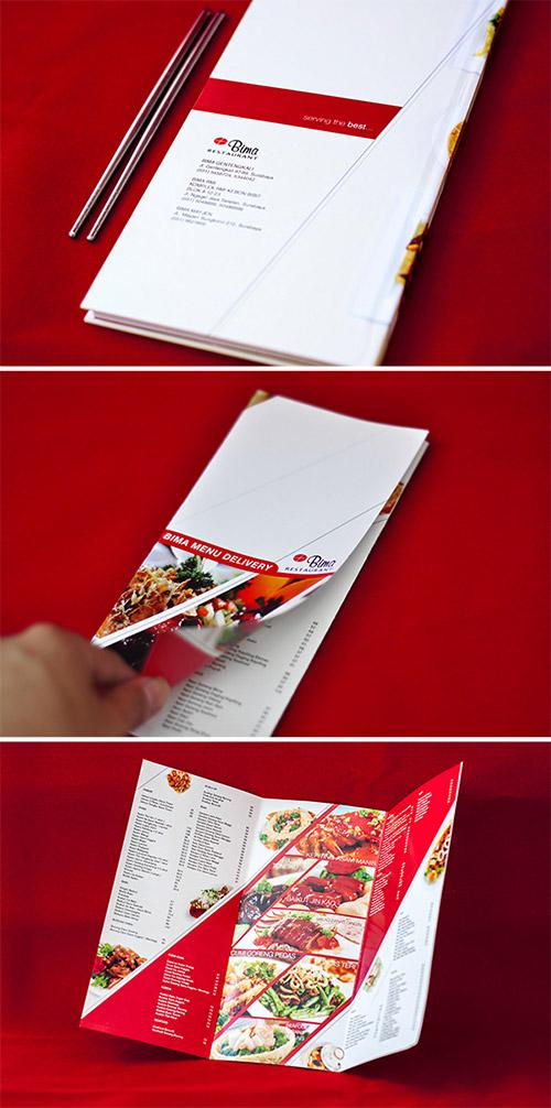 bima restaurant brochures