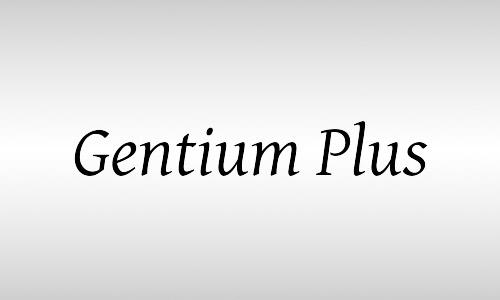 gentium italic font