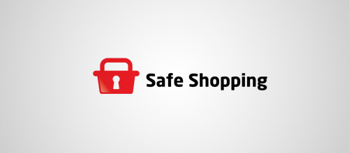safe shopping lock logo