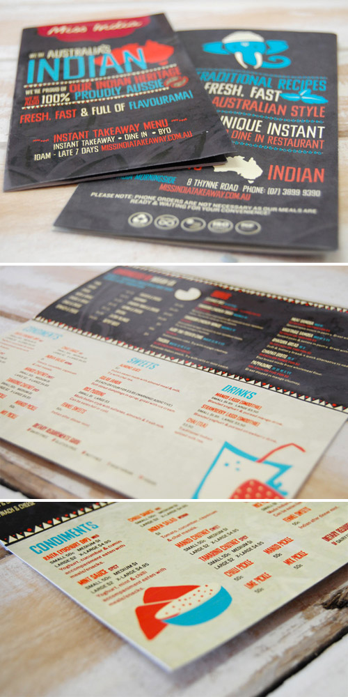 takeaway menu brochure
