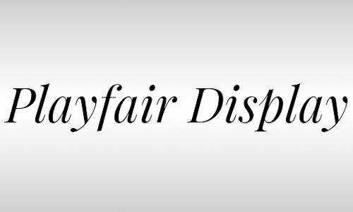 playfair free italic font