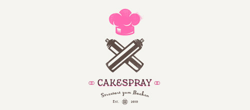 cakespray chef logo