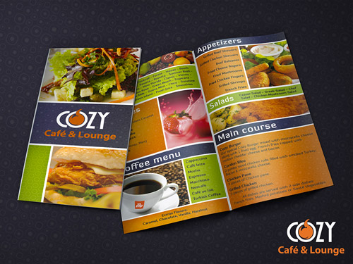 cafe menu brochure