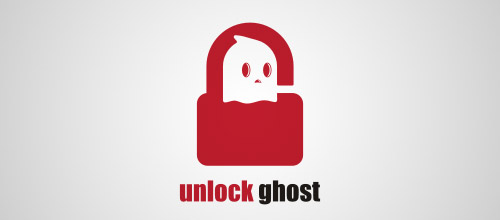 unlock ghost logo lock
