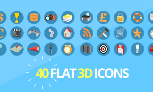 3D flat animated icons