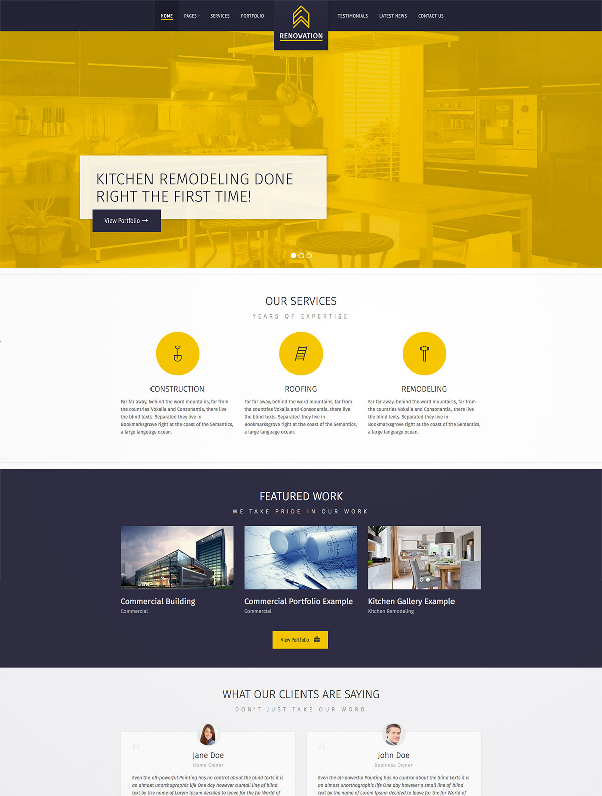 construction company themes