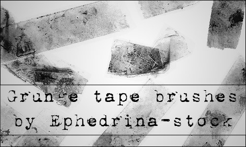 grunge tape brushes photoshop
