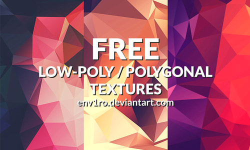 low poly background pack