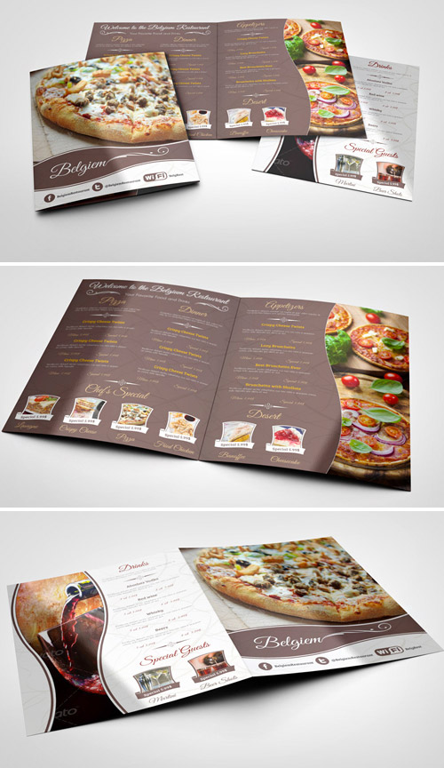 restaurant brochure mock-up