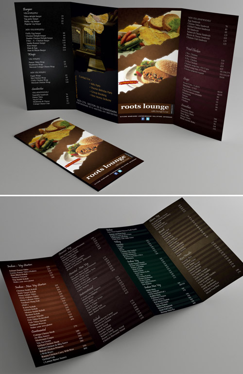 burger brochure design