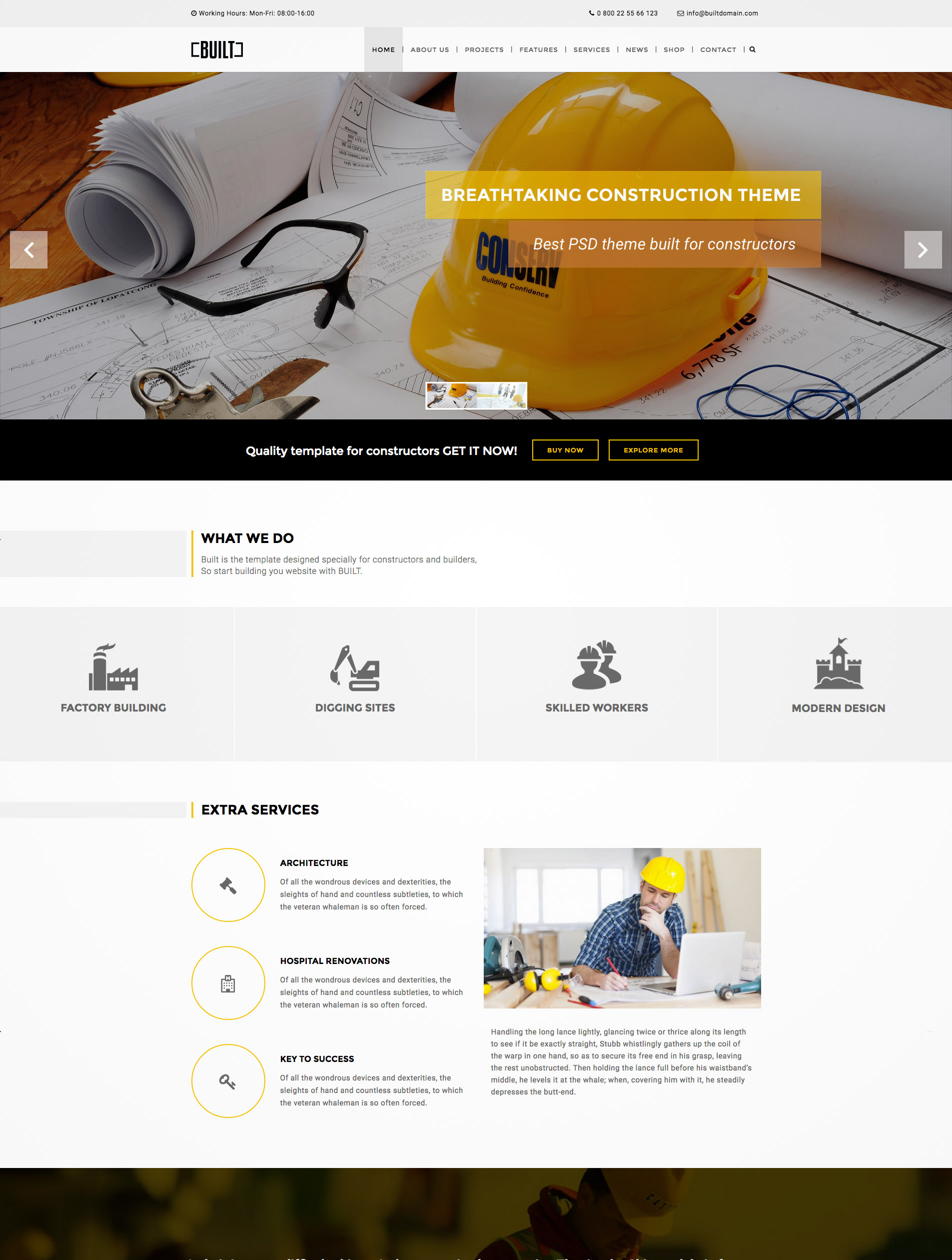 construction business wordpress