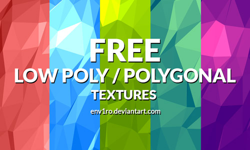 free low poly background set