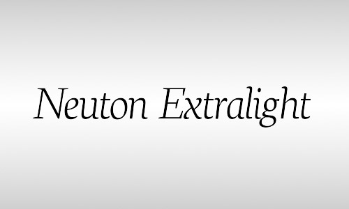 neuton italic font