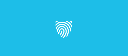shield fingerprint logo