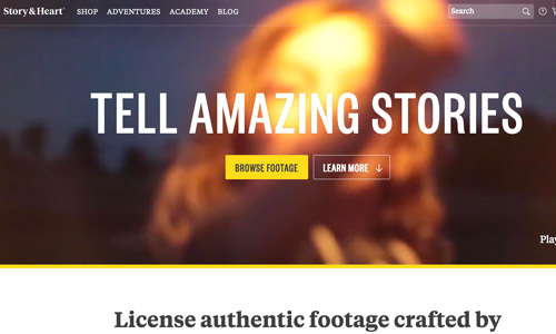 story video web design