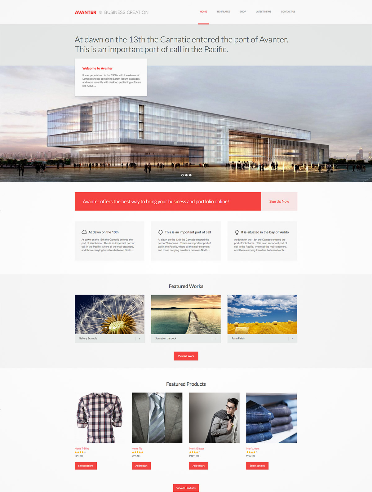 architect corporate theme
