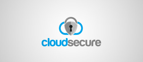 cloud secure logo lock