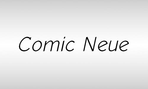 comic italic font
