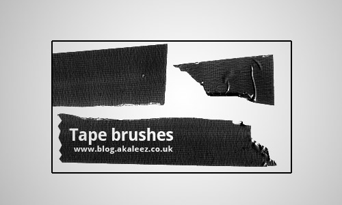 tape brushes photoshop