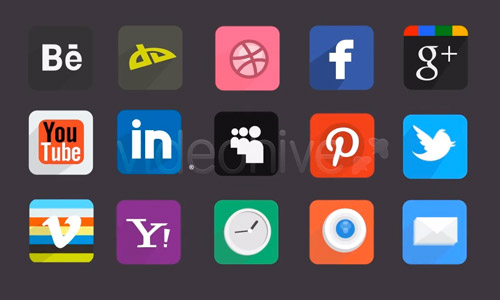 social icons animated