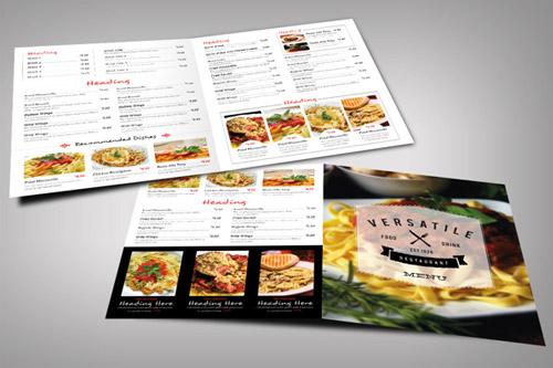 versatile restaurant brochure