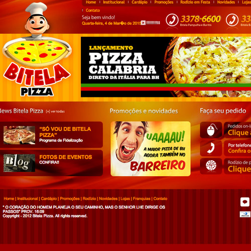 bitela pizza website design