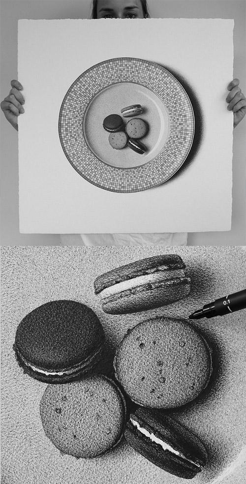 macarons 50foods illustration