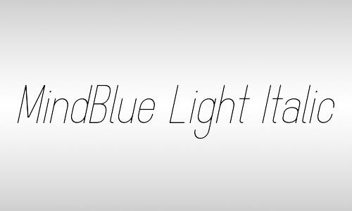 free mindblue italic font